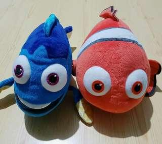 Nemo and Dory Plush Toys