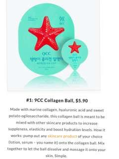 😍WHY DRINK COLLAGEN WHEN U CAN APPLY FREEZE DRIED COLLAGEN DIRECTLY ON YOUR SKIN!!❤ 1 BALL IS ALL YOU NEED TO REJUVENATE AND TIGHTEN YOUR SKIN!! ❤9cc Collagen Ball