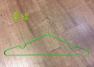 🚚 防滑衣架/草綠色 18支
