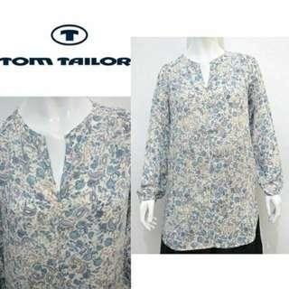 Tom Tailor Long Sleeve Tunic Pattern Polyester Original Women Fashion #onlinesale #onlineparty