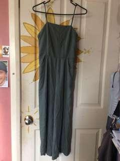 Ally green jumpsuit
