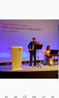 Corporate event violinist / musician