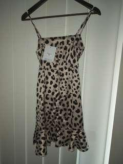 Brand new with tags leopard print dress