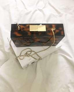 ZARA Leopard clutch Bag