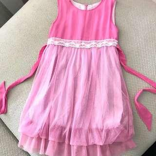 Teddy pink lace dress