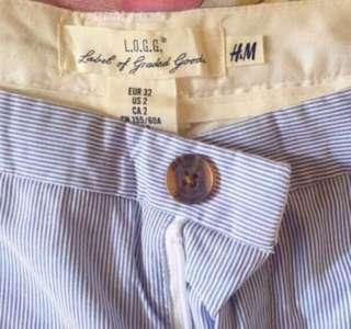 H&M Pinstripes shorts