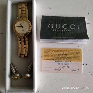 Gucci Gold Plated Watch model # 3300M