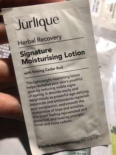 jurlique signature moisturishing lotion 2ml