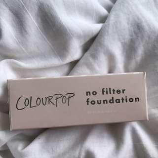 Colourpop no filter foundation Fair 30