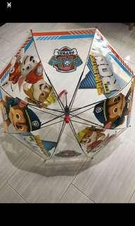 Instock kids paw patrol Umbrella 2 colors available each only blue or red brand new