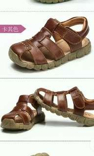 🚚 Brown Leather Sandals