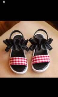 Instock!!! Red Checkers Sandals Brand New Size Available For 16 To 18cm