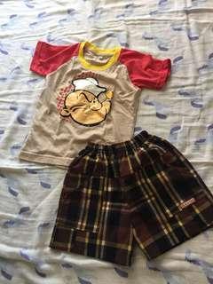 Set Baju Popeye Anak