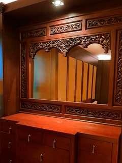 Big mirror with hard teak wood frame