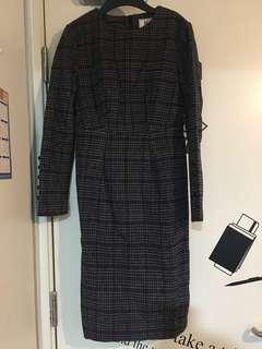 格仔復古裙 vintage dress