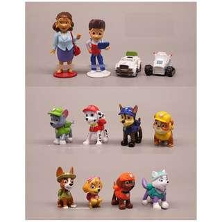 12 x Paw Patrol Ryder Figurine Cake Topper Display Toy