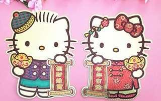 HELLO KITTY 迷有福了  看腻了传统帖?? 来看看我们的Hello Kitty 金箔立体帖  现货。数量有限。 欢迎询问。谢谢
