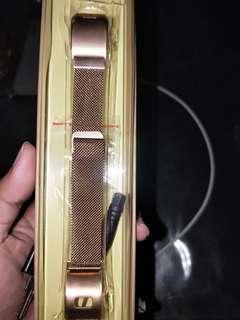 Stainless Steel watch band strap for Garmin Vivosmart Hr+ in rose gold