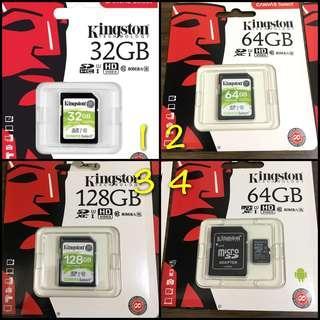 [FLASH DEAL] Kingston Micro/ SDXC 32GB 64GB & 128GB