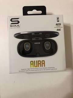 BNIB Soul Electronics AURA Superior High Performance True Wireless Earphone