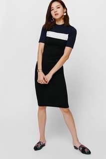 Love Bonito Shanjli Colour Block Bodycon Knit Dress