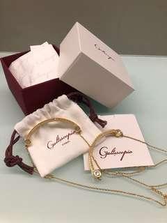 全新 galtiscopio string front & back necklace