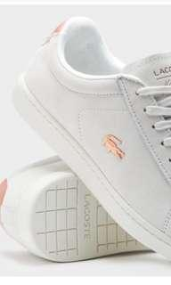 BRAND NEW Lacoste Carnaby Evo 118 Off White + Rose Gold Sneakers Size 6!!