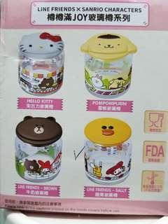 7-11玻璃樽 Line Friend x Sanrio Characters 樽樽滿 Joy