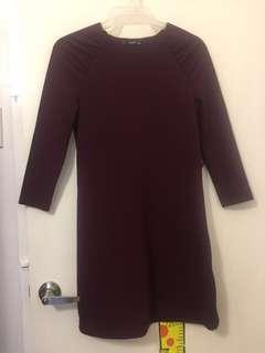 Mango maroon dress