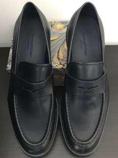 Zegna Black Crepe Sole Penny Loafers - US 10 / EU 43 / UK 9