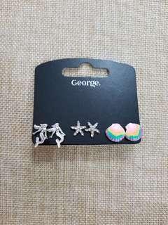 George Earrings 3Pairs