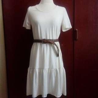 Cream Cotton Dress