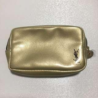 YSL Beaute Make Up Gold Pouch
