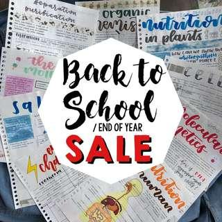 BACK TO SCHOOL / END OF YEAR SALE !!!!! ( O level notes for pure chemistry physics biology & combined humanities social studies elective geography )