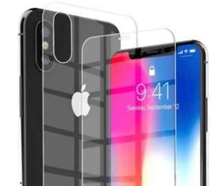 Front + back iPhone XS tempered glass screen protector