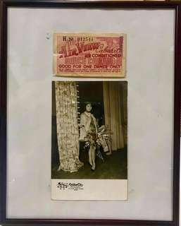 Vintage Cabaret Ticket & Photo 1950s