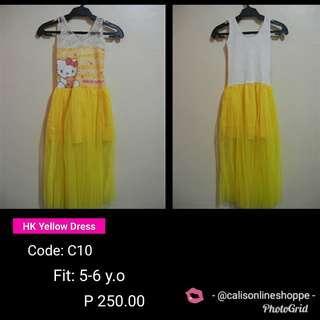HK Yellow Dress 5-6 y.o