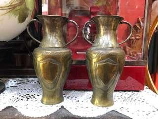 Old straits Chinese pair vases
