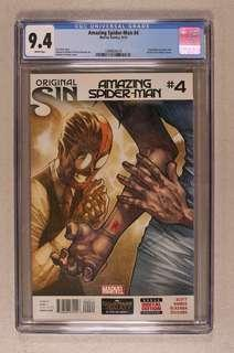 CGC 9.4 Amazing Spider-Man 4 (2014 3rd Series) first appearance of Silk
