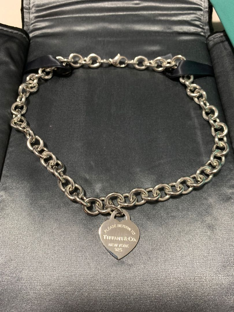 4590216a1 100% AUTH TIFFANY&CO Return To Tiffany Heart Tag Necklace, Luxury ...