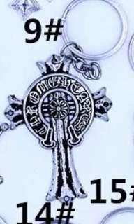 Inspired chrome hearts keychain-big cross