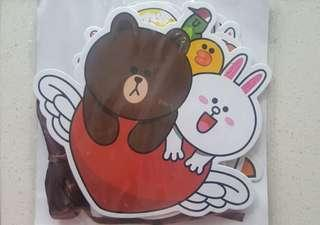 Line friends brown cony sally choco 熊大 兔兔 莎莉 派對掛飾 包平郵