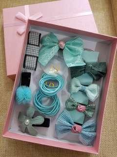 Girl Hair Accessories 10pcs with Box