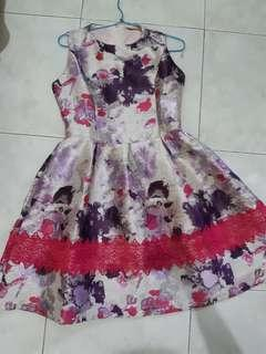 Dress solemio gliter lace