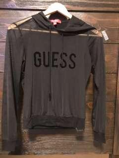 guess mesh hoodie