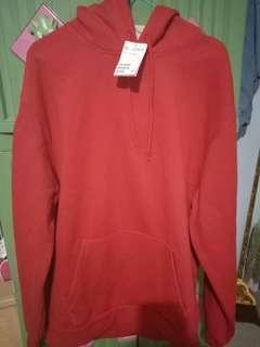 Sweater hoodie merah h&m