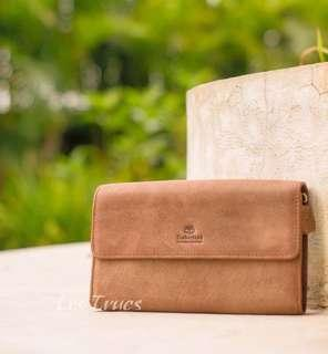Dompet TIMBERLAND GENUINE LEATHER Trifold Wallet Purse Clutch Hand Bag