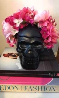 Pink designer flower crown races bridal festival