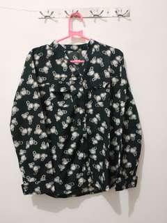 Black pattern shirt