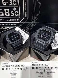GX56BB and DW5600BB Couple Pair Watch Black Gshock New in Box